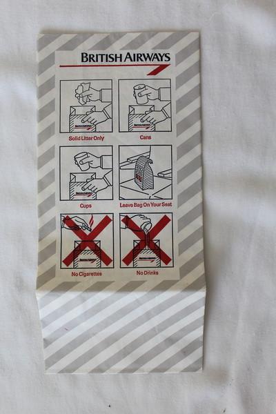 British Airways (BA) Sick Bag (Front)
