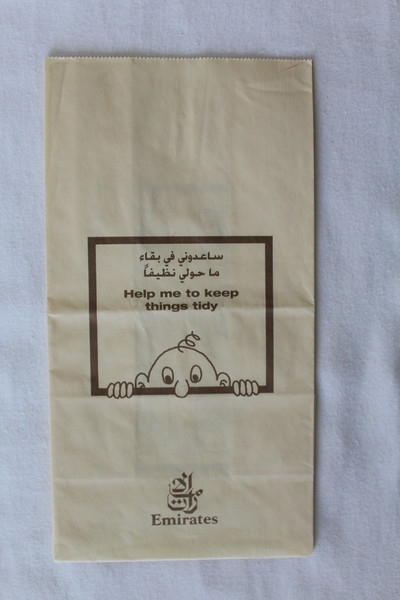 Emirates Airlines (EK) Sick Bag (Front)