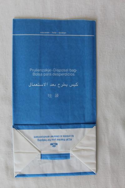 KLM Royal Dutch Airlines (KL) Sick Bag (Rear)