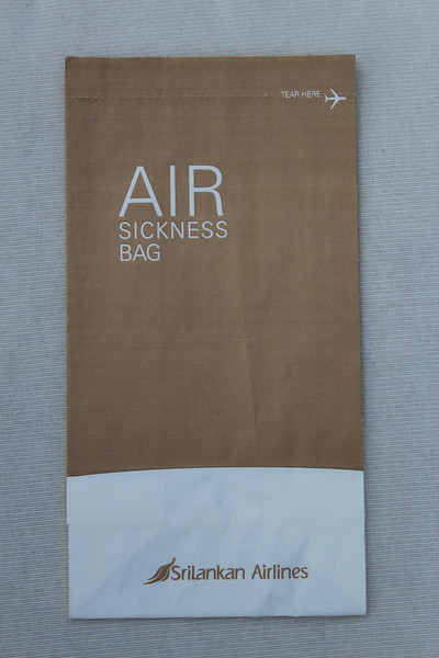 Srilankan (UL) Sick Bag (Front)
