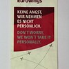 """Eurowings (EW) """"Don't Worry"""" Sick Bag (Front)"""