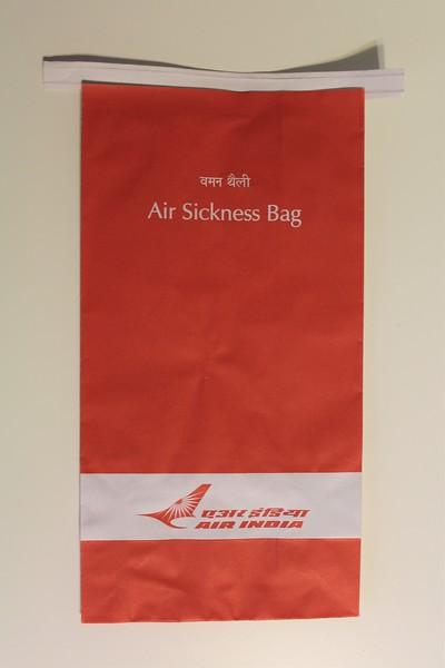 Air India (AI) Sick Bag (Front)