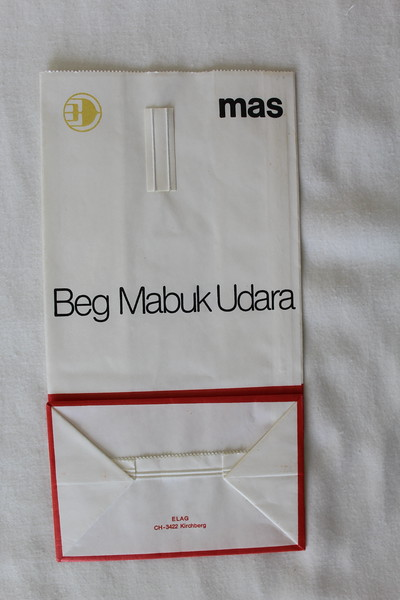 Malaysia Airlines (MAS) (MH) Sick Bag (Rear)