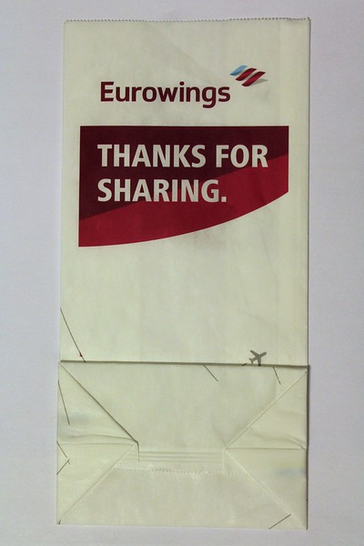 "Eurowings (EW) ""Thanks for Sharing"" Sick Bag (Rear)"