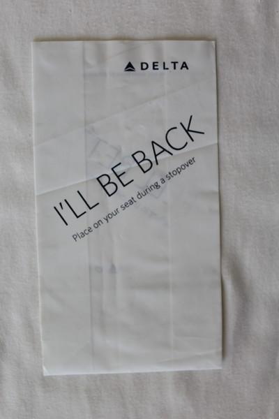 Delta Air Lines (DL) Sick Bag (Front)
