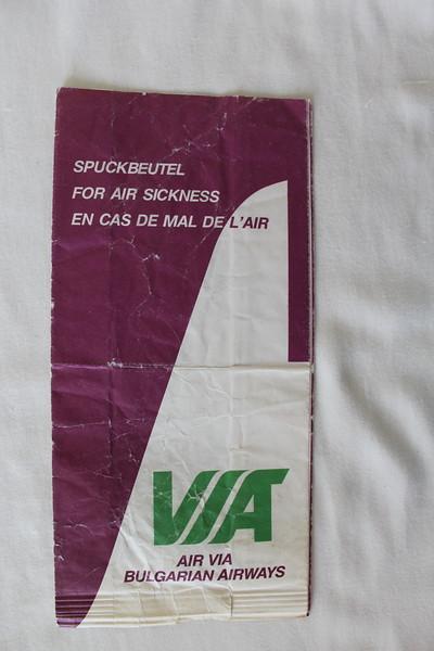 Air Via (VL) Sick Bag (Front)