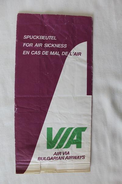 Air Via (VL) Sick Bag (Rear)