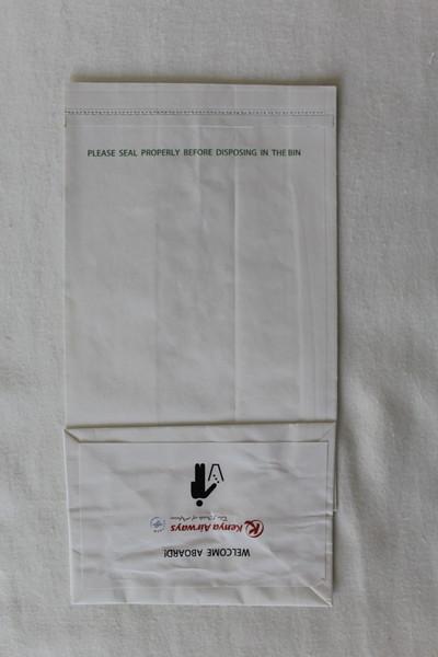 Kenya Airways (KQ) Sick Bag (Rear)