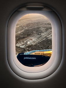 Flying over LAX