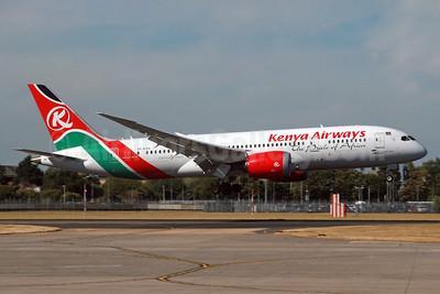 Kenya Airways Boeing 787-8 Dreamliner 5Y-KZA (msn 35510) LHR (SPA). Image: 934469.