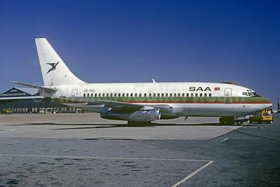 SAA (South African Airways) Boeing 737-2K9 CS-TEU (msn 22416) (Air Atlantis colors) JNB (Jacques Guillem Collection). Image: 933798.