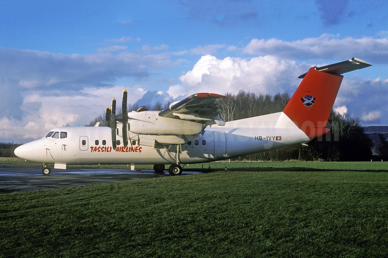 Tassili Airlines (BenAvia) de Havilland Canada DHC-7-102 Dash 7 HB-IVY (msn 74) (BenAvia colors) ZRH (Rolf Wallner). Image: 941326.