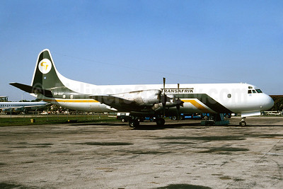 Transafrik International Lockheed 188C (F) Electra S9-NAF (msn 2022) MIA (Bruce Drum). Image: 104388.