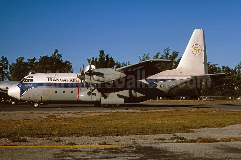 Transafrik International (TAB) Lockheed 382C  Hercules CP-1376 (msn 4759) MIA (Bruce Drum). Image: 103784.