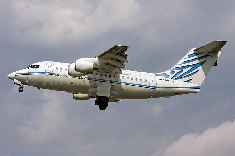 Air Botswana BAe 146-100 A2-ABF (msn E1160) SEN (Keith Burton). Image: 903505.