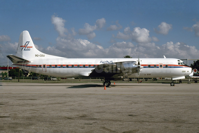 FilAir Lockheed 188A Electra 9Q-CDU (msn 1040) MIA (Bruce Drum). Image: 103703.