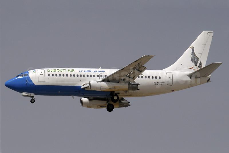 Djibouti Air (2nd) Boeing 737-230 UP-B3707 (msn 22123) DXB (Paul Denton). Image: 906349.