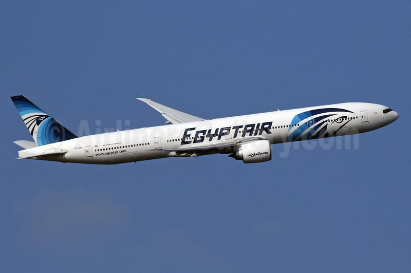 EgyptAir Boeing 777-36N ER SU-GDN (msn 38288) LHR (SPA). Image: 936258
