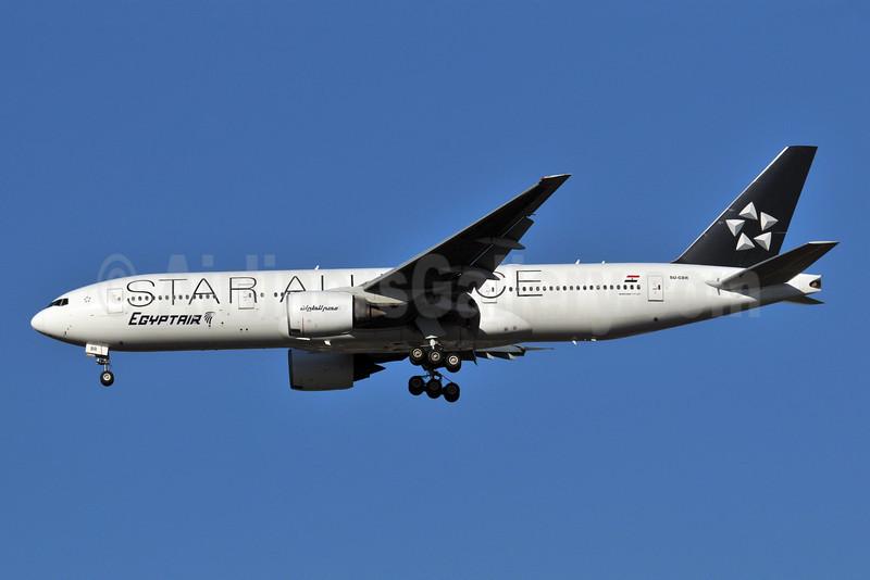 EgyptAir Boeing 777-266 ER SU-GBR (msn 28424) (Star Alliance) JFK (Ken Petersen). Image: 904019.