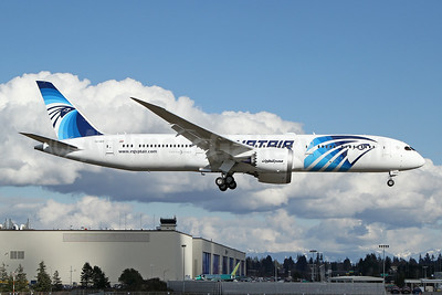First flight of the first Boeing 787 Dreamliner for EgyptAir