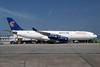 Egypt Air Airbus A340-212 SU-GBM (msn 156) LHR (SPA). Image: 932326.