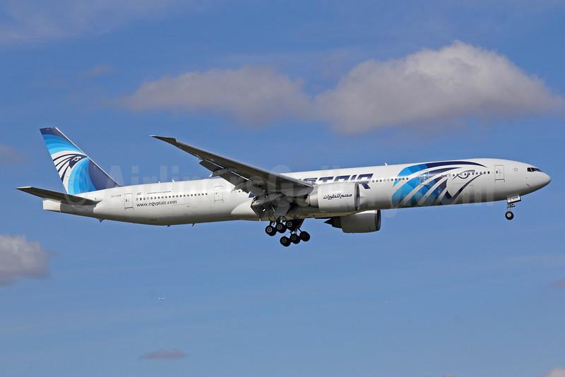 EgyptAir Boeing 777-36N ER SU-GDM (msn 38285) LHR (Michael B. Ing). Image: 909510.