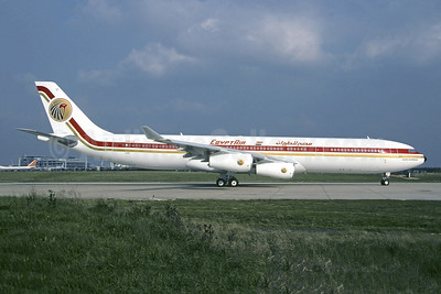 """Cleo Express"", leased from Gulf Air on October 13, 1995"