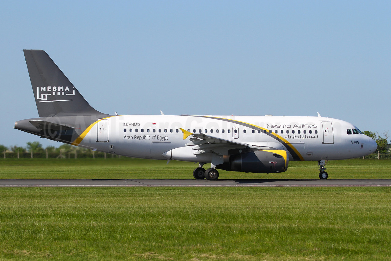 """Arwa"", 1st Airbus A319 for Nesma, delivered on June 2, 2016"