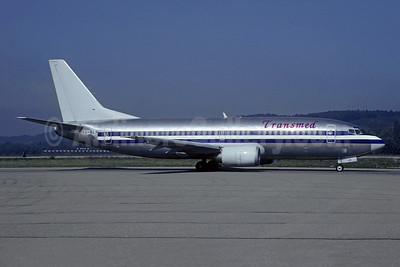 Transmed Airlines Boeing 737-3A4 SU-BLN (msn 23252) (American stripes) ZRH (Christian Volpati Collection). Image: 946025.