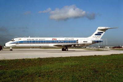 ZAS - Airline of Egypt McDonnell Douglas DC-9-87 (MD-87) N1075T (SU-DAP) (msn 49724) MIA (Bruce Drum). Image: 104186.