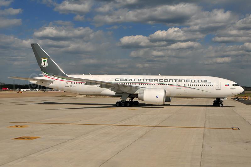 Ceiba Intercontinental Airlines Boeing 777-2FB LR 3C-LLS (msn 40668) JFK (Ken Petersen). Image: 931437.