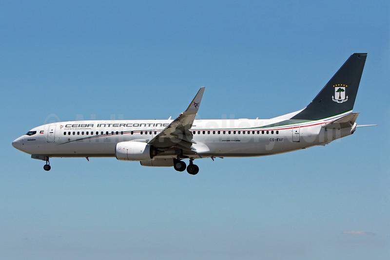 Ceiba Intercontinental Airlines Boeing 737-8FB WL  CS-FAF (msn 41159) LIS (Pedro Baptista). Image: 924685.