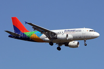 Eritrean Airlines (BH Air) Airbus A319-112 LZ-AOA (msn 3139) FRA (Pedro Baptista). Image: 908531.