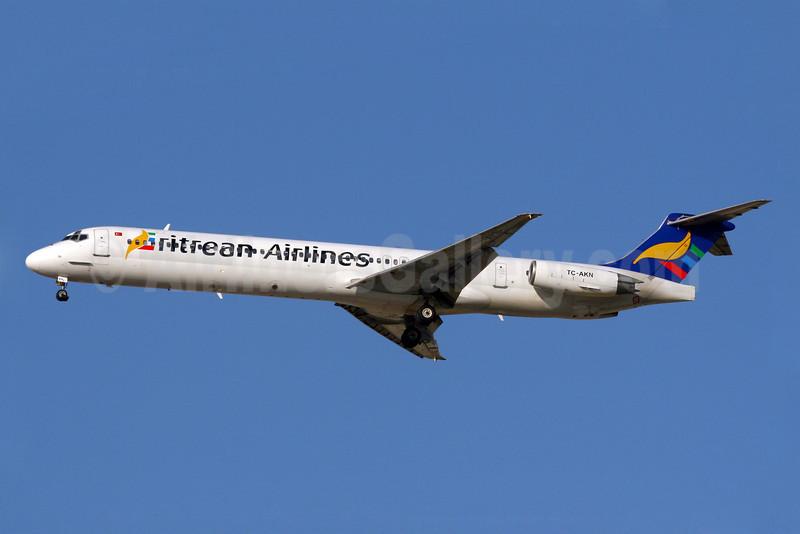 Eritrean Airlines (World Focus Airways) McDonnell Douglas DC-9-83 (MD-83) TC-AKN (msn 53186) DXB (Konstantin von Wedelstaedt). Image: 901737.