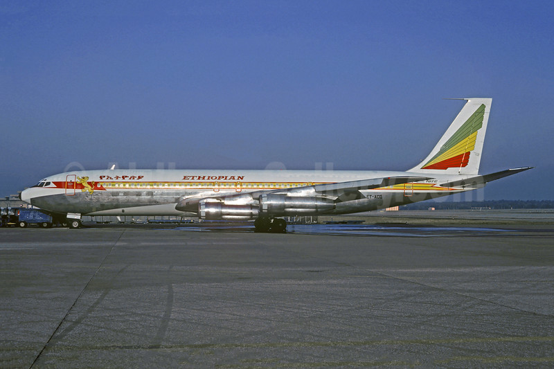 Ethiopian Airlines Boeing 707-379C ET-ACQ (msn 19820) MUC (Jacques Guillem Collection). Image: 910938.