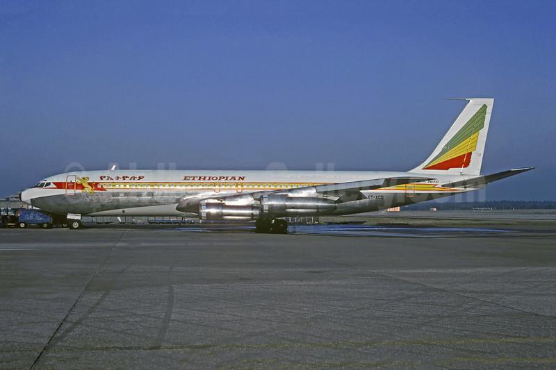 Ethiopian Airlines Boeing 707-379C ET-ACQ (msn 19820) MUC (Jacques Guillem Collection). Image: 910938.