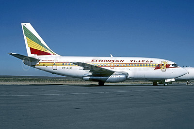 Ethiopian Airlines Boeing 737-2T4 ET-ALE (msn 23446) JIB (Christian Volpati Collection). Image: 942926.