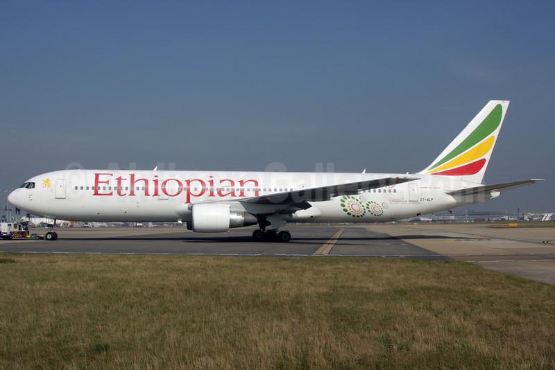 Ethiopian Airlines Boeing 767-360 ER ET-ALP (msn 33769) (Ethiopia's Millenium) LHR (Antony J. Best). Image: 901145.