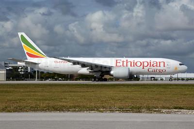 Ethiopian Cargo (Ethiopian Airlines) Boeing 777-F60 ET-ARK (msn 42034) MIA (Richard Vandervord). Image: 949092.