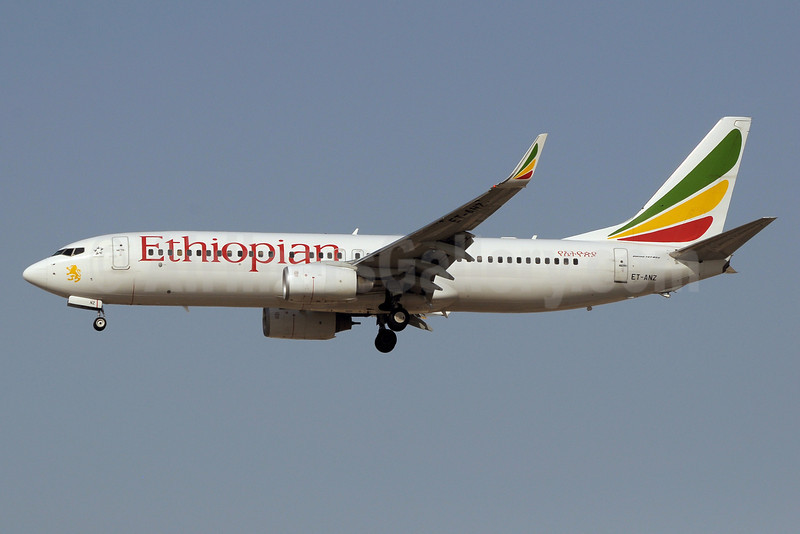 Ethiopian Airlines Boeing 737-8HO WL ET-ANZ (msn 37933) DXB (Paul Denton). Image: 911482.