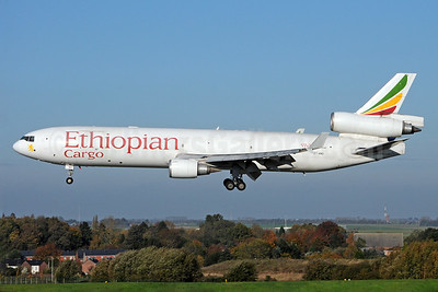 Ethiopian Cargo (Ethiopian Airlines) McDonnell Douglas MD-11F ET-AND (msn 48780) LGG (Karl Cornil). Image: 933918.