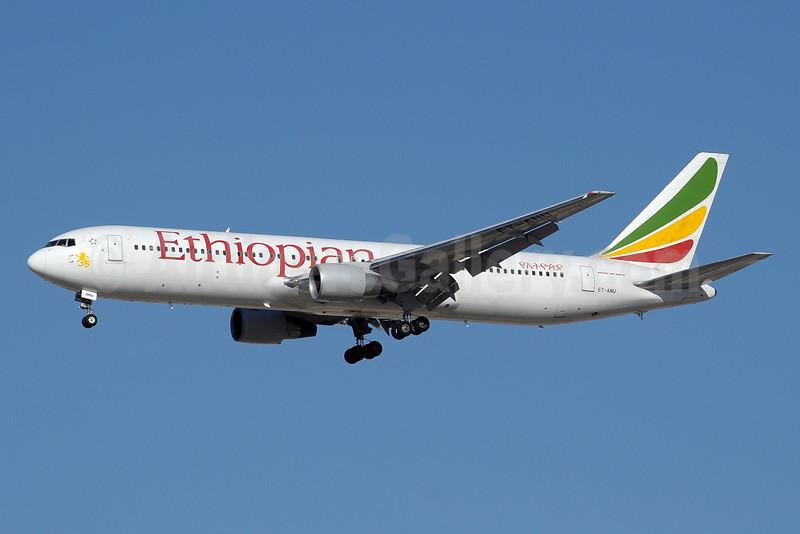 Ethiopian Airlines Boeing 767-3Q8 ER ET-ANU (msn 27993) DXB (Paul Denton). Image: 911485.
