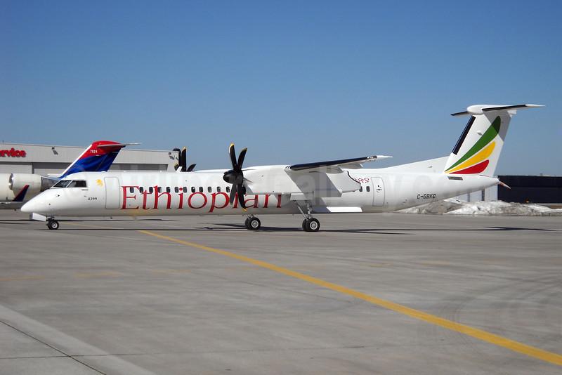 Ethiopian Airlines Bombardier DHC-8-402 (Q400) C-GBKC (ET-ANI) (msn 4299) YYZ (TMK Photography). Image: 904679.