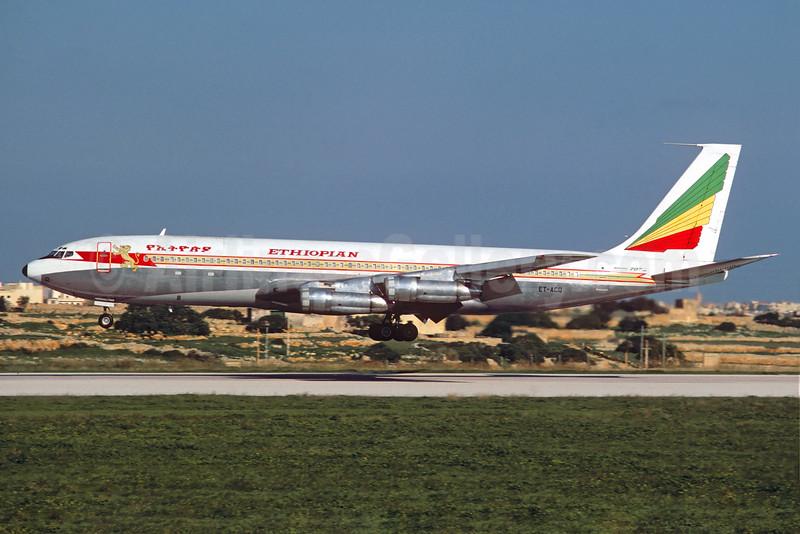 Ethiopian Airlines Boeing 707-379C ET-ACQ (msn 19820) MLA (Jacques Guillem Collection). Image: 930781.