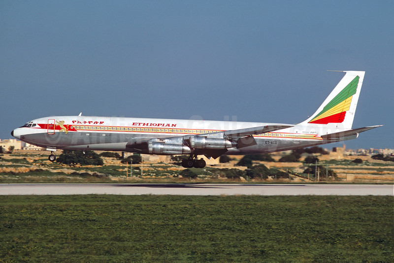 Ethiopian Airlines Boeing 707-379C ET-ACQ (msn 19820) MLA (Jacques Guillem Collection). Image: 930781.