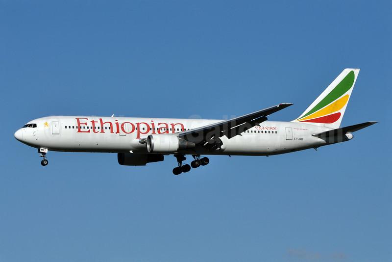 Ethiopian Airlines Boeing 767-306 ER ET-AME (msn 27611) LHR (Richard Vandervord). Image: 905637.