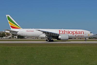 Ethiopian Cargo (Ethiopian Airlines) Boeing 777F ET-AVT (msn 65476) MIA (Brian McDonough). Image: 949093.