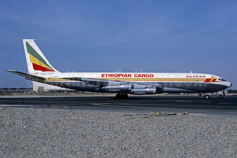 Ethiopian Cargo (Ethiopian Airlines) Boeing 707-327C ET-AIV (msn 19531) SHJ (Jacques Guillem Collection). Image: 911489.