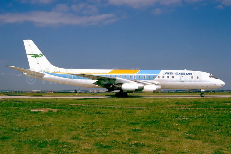 Air Gabon Douglas DC-8-33 N711LF (msn 45260) (ALM Colors) CDG (Jacques Guillem). Image: 911628.