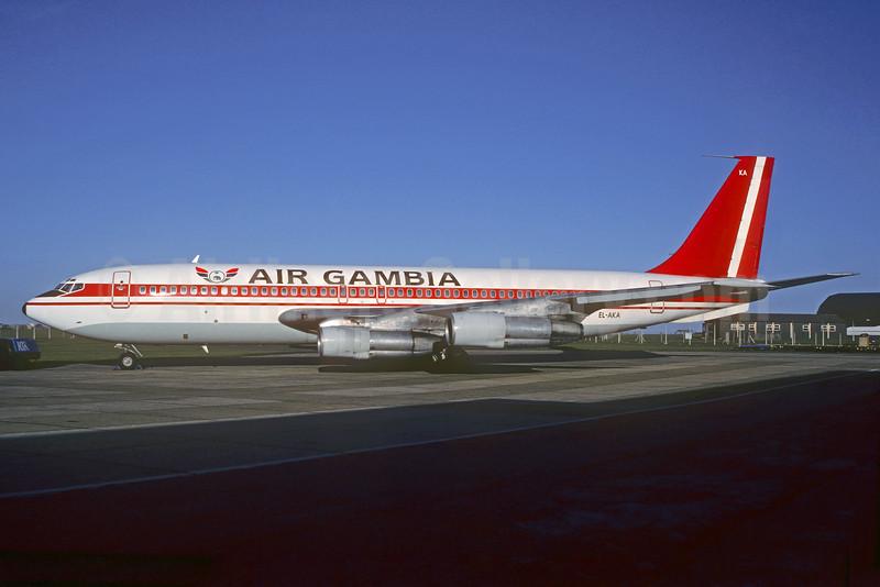 Air Gambia Boeing 707-123B EL-AKA (msn 19335) SEN (Christian Volpati Collection). Image: 932530.